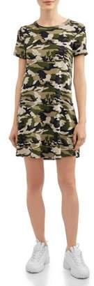 Poof Apparel Juniors' Camo T-Shirt Dress