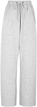 Natasha Zinko X DUO light grey studded jersey sweatpants