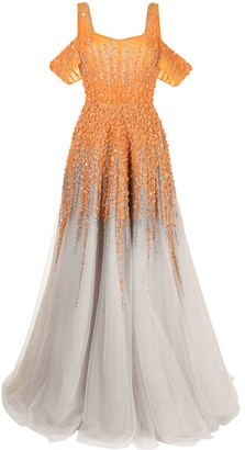Saiid Kobeisy Sequin-Embellished Tulle Gown