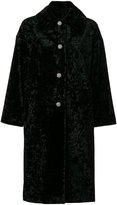 Lanvin oversized embellished button coat