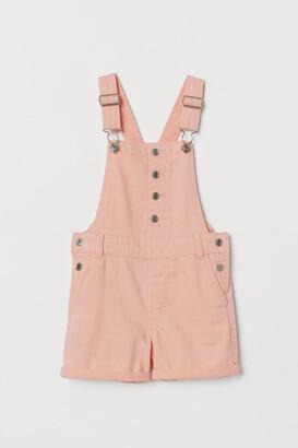 H&M Cotton Overall Shorts - Orange