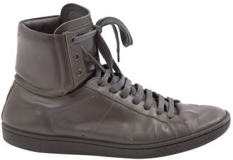 Saint Laurent Anthracite Leather Trainers