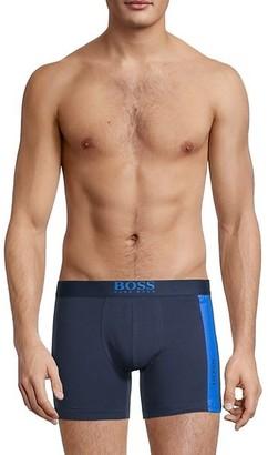 HUGO BOSS Logo-Waist Stretch-Cotton Boxer Briefs