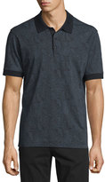 Robert Graham Paisley-Print Short-Sleeve Polo Shirt, Black