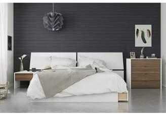 Modus Designs Nexera 4pc Queen Bedroom Set Walnut/White