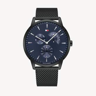 Tommy Hilfiger Ion-Plated Dress Watch with Mesh Bracelet