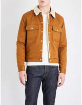 Sandro Faux-shearling Cotton-twill Jacket