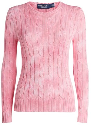 Polo Ralph Lauren Tie-Dye Cable-Knit Sweater