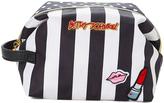 Black & White Stripe Large Cosmetic Bag