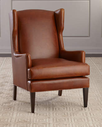 Sandrino Leather Wing Chair