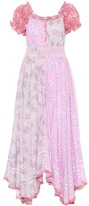 LoveShackFancy Ren floral cotton midi dress