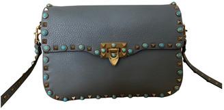 Valentino Guitar Rockstud Grey Leather Handbags