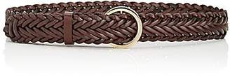 MAISON BOINET Women's Braided Leather Belt - Brown