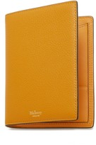 Mulberry Passport Cover Wallet Deep Amber Small Classic Grain