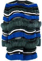 Fendi striped fur coat - women - Fox Fur/Lamb Skin/Mink Fur/Coyote Fur - 40
