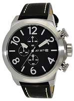 Jet Set j66603-267 – New York – Watch Men – Quartz – Chronograph – Black Dial – Black Leather Strap