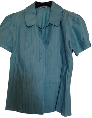 Cacharel Blue Cotton Top for Women