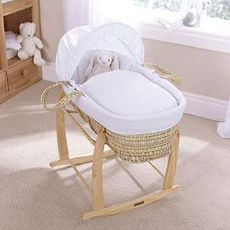 Clair De Lune Pure Baby Palm Moses Basket - White