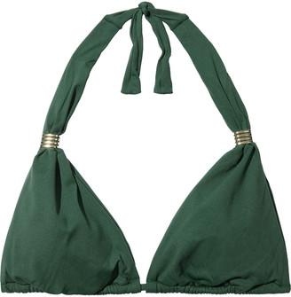 Melissa Odabash Grenada Embellished Triangle Bikini Top
