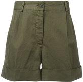 Aspesi folded hem shorts - women - Cotton/Linen/Flax - 44