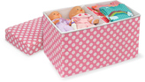 Badger Basket Pink Polka Dot Double Folding Storage Box