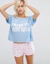 Asos BRIDAL I Made The Bride Squad Tee & Short Pajama Set