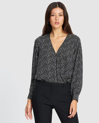 Atmos & Here Nicole Wrap-Over Blouse