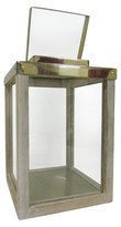 Smith & Hawken Small Wooden Lantern with Steel Brass Handle