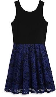 Aqua Girls' Lace-Overlay Dress, Big Kid - 100% Exclusive