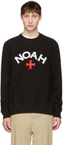 Noah Nyc Black Varsity Logo Sweatshirt
