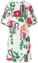 Dolce & Gabbana coffee pot print shift dress