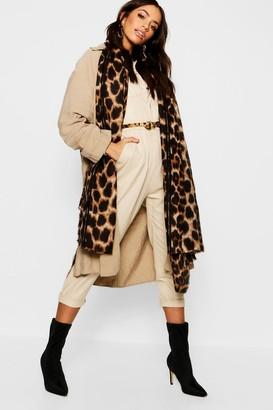 boohoo Leopard Oversized Blanket Scarf