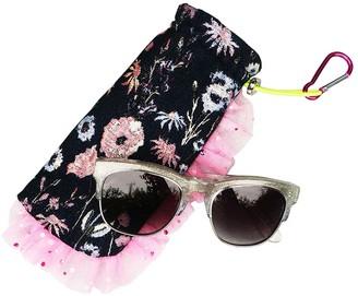 Edna Clip On Botanical Jacquard Ruffle Glasses Case