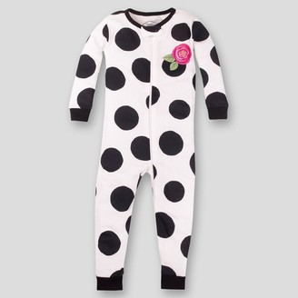 Lamaze Toddler Girls' Organic Cotton Dots Footed Stretchy Pajama Romper -