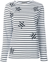 MAISON KITSUNÉ star patch sweatshirt - women - Cotton - S
