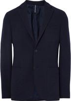 Incotex - Blue Slim-fit Wool-terry Blazer