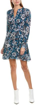 Parker Brooke Silk-Blend A-Line Dress