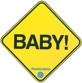 Parent Units Baby! Car Magnet - Yellow