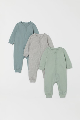 H&M 3-pack Cotton Jumpsuits