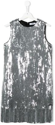 Msgm Kids TEEN sequinned midi dress