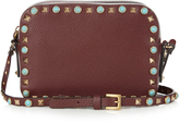Valentino Rockstud Rolling leather camera cross-body bag