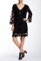 Gypsy 05 Gypsy05 Embroidered Diamond Netting Mini Dress