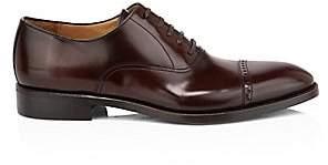 Paul Stuart Men's Hartford Leather Perforated-Tip Balmoral Oxfords