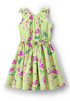 Classic Girls Novelty Twirl Dress-Marin Botanical