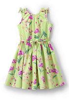 Classic Girls Plus Novelty Twirl Dress-Faint Lime Marin Botanical