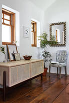 Anthropologie Patchwork Cane Console