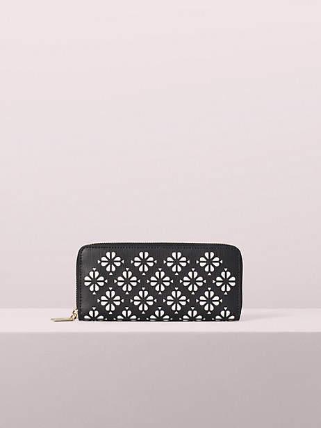Kate Spade Sylvia Perforated Slim Continental Wallet, Black