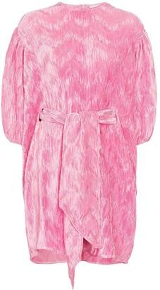 Ganni puff sleeve mini dress