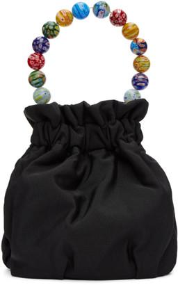 STAUD Black Nylon Glass Bead Grace Bow Bag