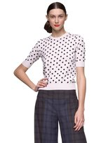 Sequin Polka Dot Short Sleeve Sweater